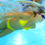 Licensed Bravo Bra Pads blog image of swim shapers girl in yellow bikini underwater