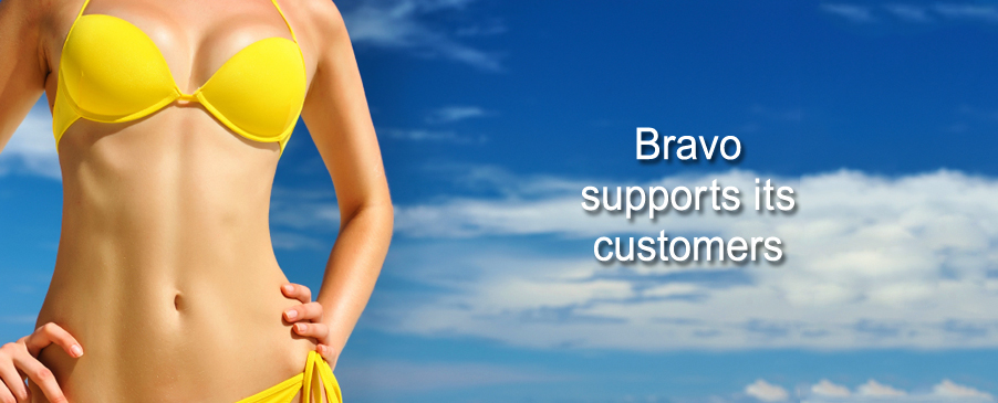 Bravo Bra Pads licensed header image yellow bikini swim shapers