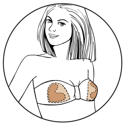 Illustration of Bravo Bra Pads nude Ultra Shapers