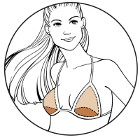 bravo bra pads style 9400 bra insert illustration swim shapers
