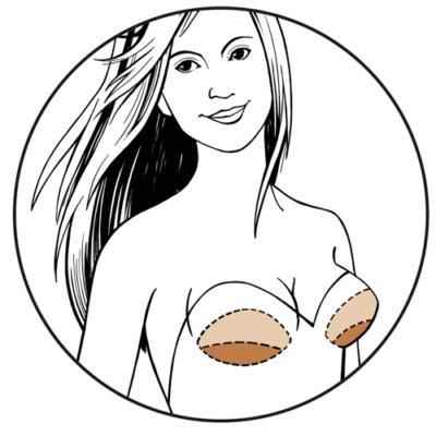 Illustrated Bravo bra pads bandeau swim shapers nude Full Push Up Style 9700