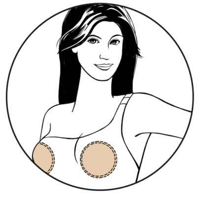 bravo bra pads swim shapers style 9800 bra insert illustration