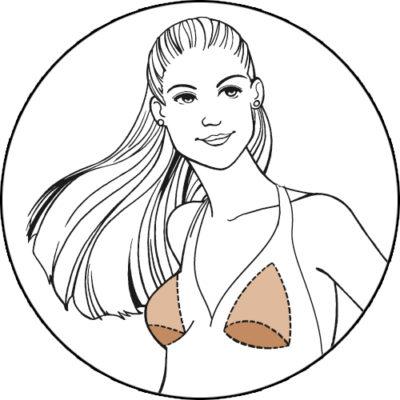 top 5 most popular bra pad insert triangle plus illustration