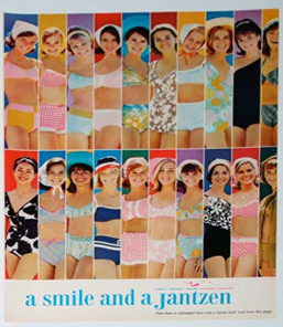 magazine clipping from old Jantzen smile contest